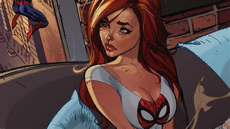 af spiderman mary jane angry illustration cartoon