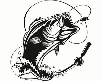 Bass Fish Fishing Hook Clipart Largemouth Hunting