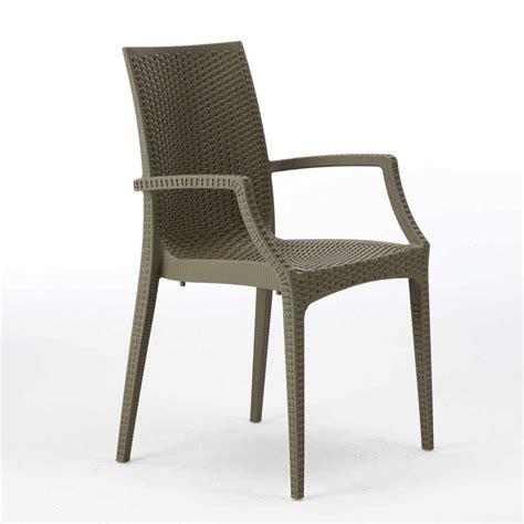 poltrone bar 20 sedie poltrone braccioli bar giardino poly rattan