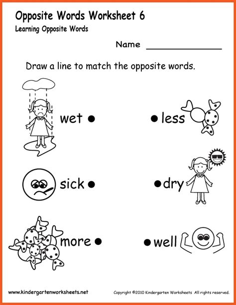 preschool synonyms 15 best images about printable worksheets on 527