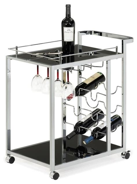 bar cart with wine rack wine serving cart with stemware rack contemporary bar