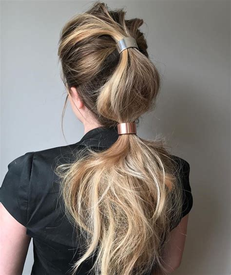 simple ponytail hairstyles  long hair  stylish