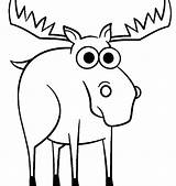 Moose Coloring Pages Drawing Muffin Printable Christmas Cartoon Getcolorings Easy Cool2bkids Clipartmag Draw Getcoloringpages sketch template