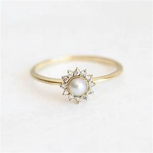 25 best ideas about pearl rings on pinterest gold pearl With pearl diamond wedding rings