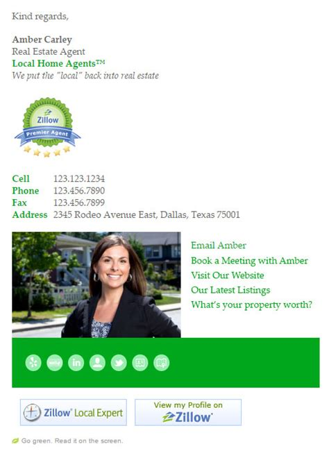 real estate agent email signature templates email