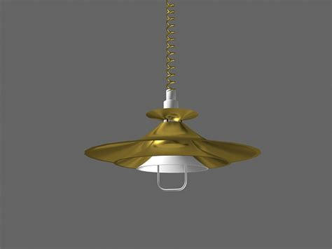 retractable ceiling light fixture pull down ceiling light 3d model 3dsmax files free