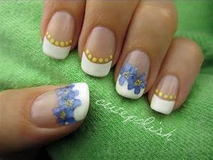 Nail Art using Real Flowers! - YouTube