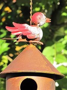 Vogelhaus Zum Hängen : rundes vogelhaus zum h ngen aus metall in rostoptik angels garden dekoshop ~ Orissabook.com Haus und Dekorationen