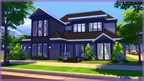 Family Home by The Sims 4 Parenthood House Build Modern Family Home
