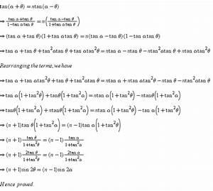Tan Alpha Berechnen : if tan alpha theta ntan alpha theta then show that n 1 sin 2theta n 1 sin 2alpha ~ Themetempest.com Abrechnung