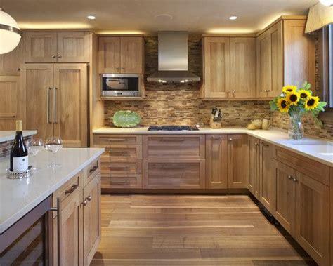 wood kitchen backsplash contemporary hickory kitchen cabinets picture ideas