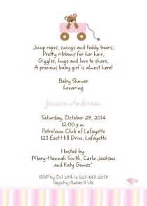 places for bridal registry baby shower invitation wording