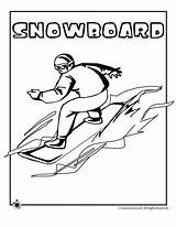 Coloring Snowboarding Pages Winter Olympic Olympics Sports Colouring Games Activities Snowboard Sheets Curling Jr Skiing Special Classroom Spanish Freestyle Hockey sketch template
