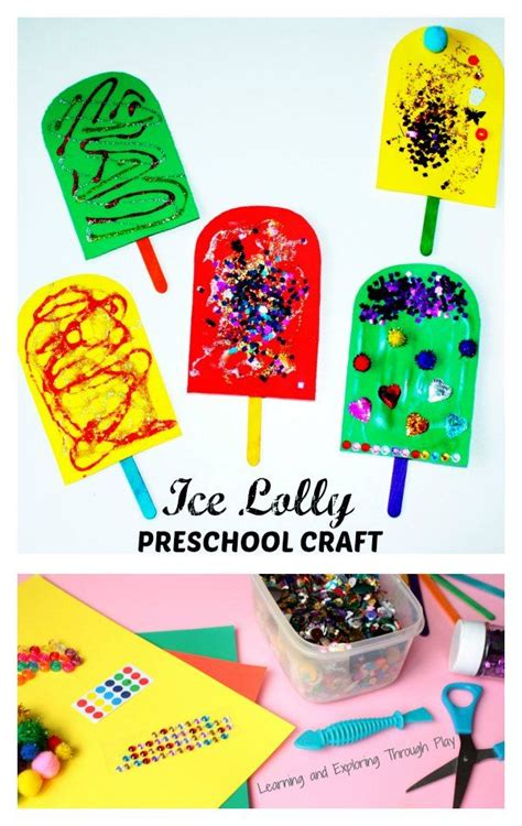 lolly summer craft for toddlers and preschoolers 378 | 7667b2df4a4d2321a185b6421c20e5d8