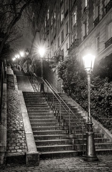 Stairs Of Montmartre At Night Paris