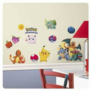 pokemon iconic peel and stick wall decals roommates With pokemon wall decals