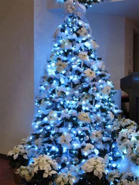 blue christmas tree decorating ideas pictures reference