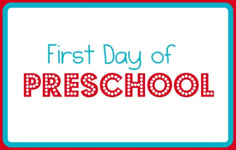 first day of preschool printable 24 colorful day of school signs kitty baby 616