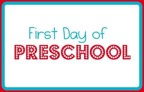 First Day Preschool Sign Printable