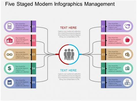staged modern infographics management flat powerpoint