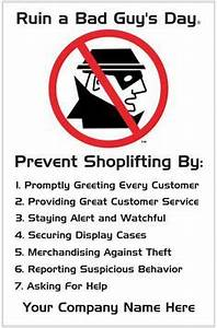 Prevent Shoplifting Poster   Loss Prevention Awareness ...