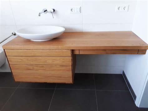 Gäste Wc Holz by Waschtischunterschrank Aus Holz Modern Massiv Eiche