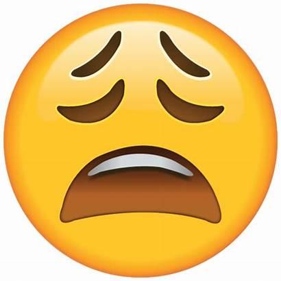 Tired Face Emoji Really Tweet Looks Sad