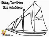 Pirate Coloring Ship Sail Pages Boat Yescoloring Vessel Sea Three Seas sketch template