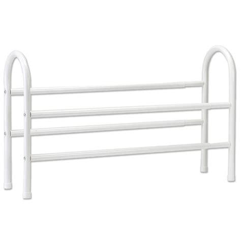 shop closetmaid 8 pair white metal shoe rack at lowes