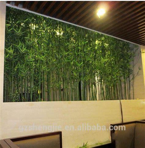 lxy pagar bambu buatan hias tanaman hijau palsu