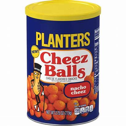 Balls Planters Cheese Cheez Snacks Canister Nacho