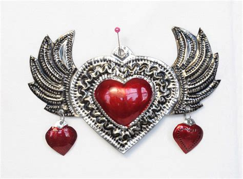 Shop for wall decor heart online at target. Tin Heart with Wings, wall plaque, by HG, 11-inch   Heart ...