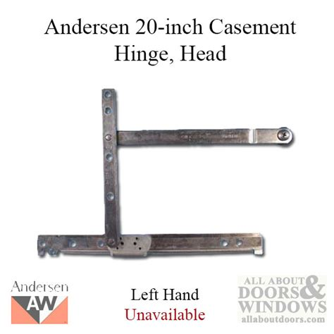 unavailable hinge head left andersen casement