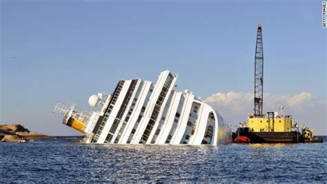 Wrecked cruise ship