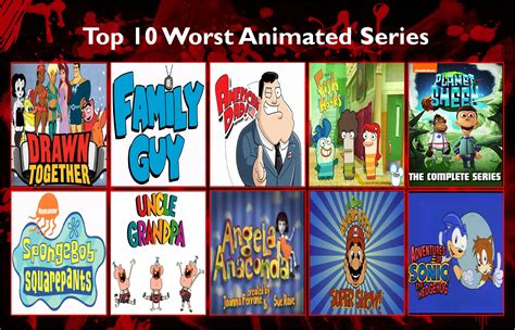 Top Ten Worst Animated Series By Disneycow82 On Deviantart
