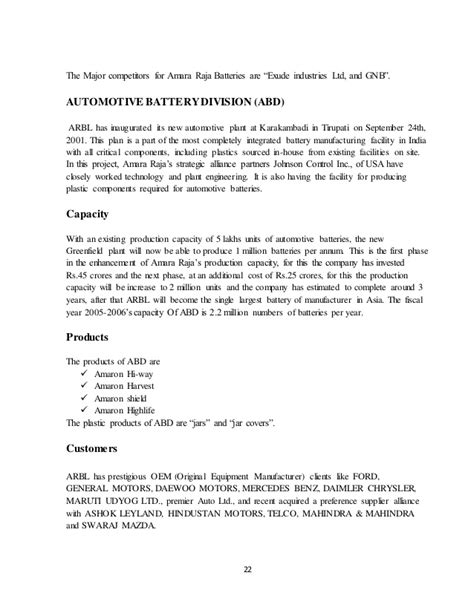 Ratio analysis project