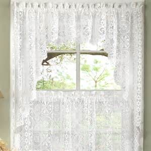 sweet home collection world style floral heavy lace kitchen 30 quot curtain valance reviews