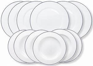 12 Teiliges Service : kahla tafelservice 12 teilig porzellan aronda blaue linie online kaufen otto ~ Markanthonyermac.com Haus und Dekorationen