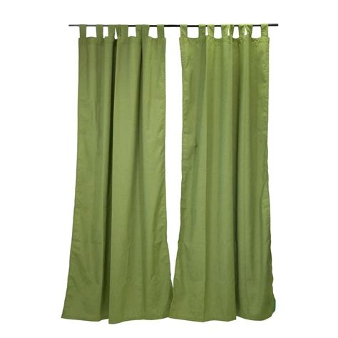 Sunbrella Drapes - sunbrella 50 in x 96 in spectrum cilantro outdoor tab