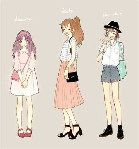 Download this free vector about hand drawn summer clothes set, and discover more than 11 million professional graphic resources on freepik. Pin on Anime girl fashion