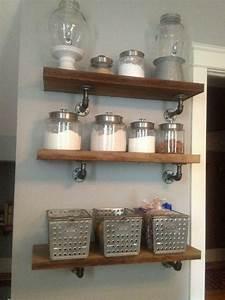 custom industrial style shelves by co llc