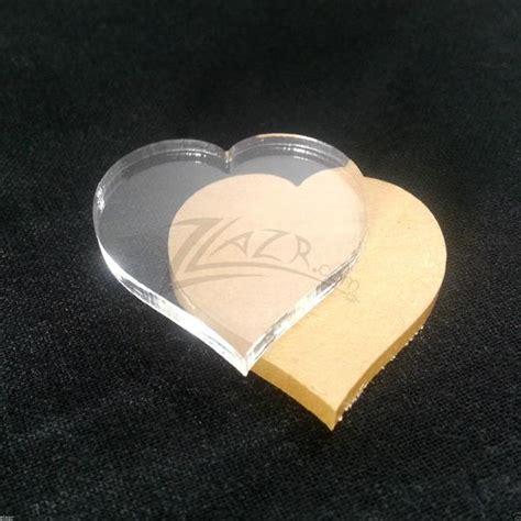 clear acrylic heart disc plastic