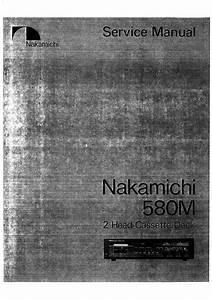 Nakamichi 580m Original Service Manual