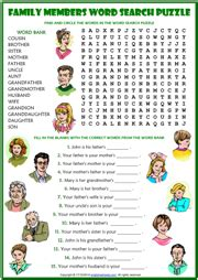 how to find family members family members esl printable worksheets and exercises