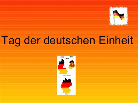German unity day is the national day in germany, celebrated on 3 october as a public holiday. Tag der deutschen Einheit