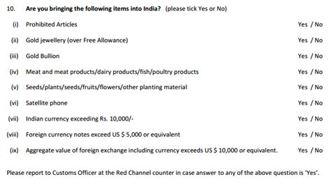 indian customs declaration form a dummy s guide to the new customs baggage