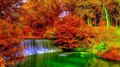Living With Colorful Waterfall Really Make Color Of Life