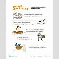 Making Inferences Pictures  Worksheet Educationcom