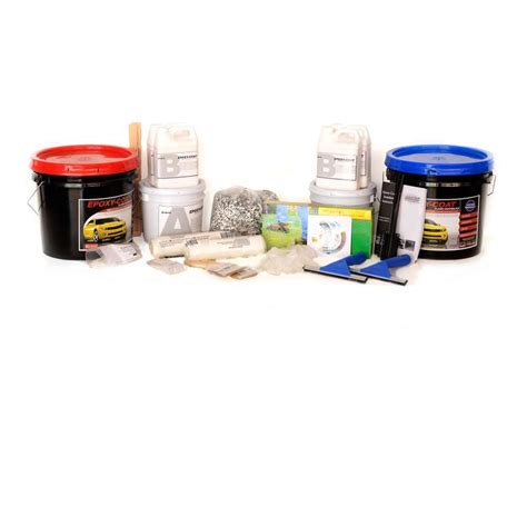 Epoxy Kit by Epoxy Coat 2 Part Taupe With Clear Coat High Gloss Garage