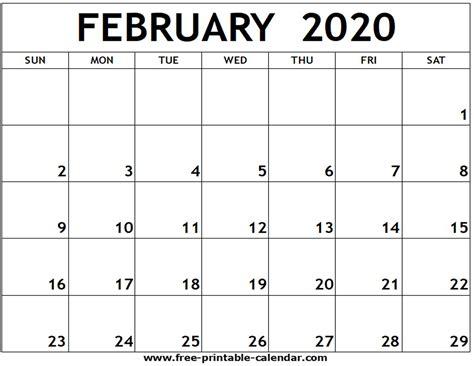 february printable calendar printable calendarcom